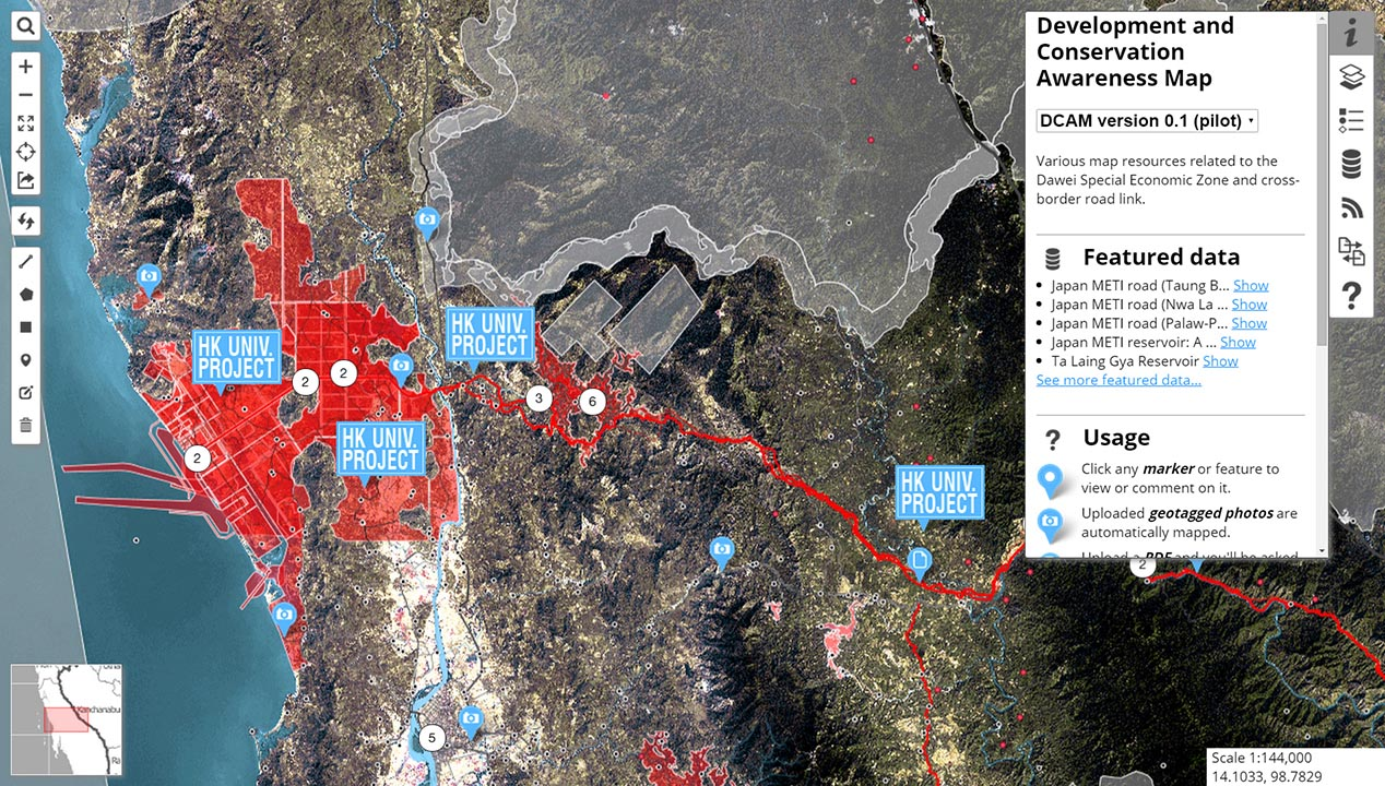 Development and Conservation Awareness Map for Dawei.