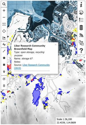 Development and Conservation Awareness Map (DCAM) for Hong Kong.
