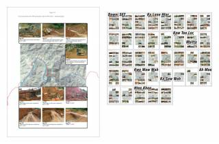 Construction photos from ITD work progress reports (2011-2013). By Ashley Scott Kelly, 2019.