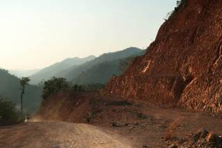 Site visit along Dawei Road Link at Elephant Cry Hill, Tanintharyi, Myanmar. By Ashley Scott Kelly, 2017.
