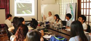 Students meeting with World Wide Fund for Nature (WWF) Mynamar in Yangon. By FEI Xiaoyan Mimi, 2015.